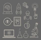 Innovation. Vector set of icons for innovation and science Stock Photography