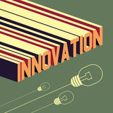 Innovation word. Abstract background with 3D Stock Image