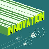 Innovation word. Abstract background with 3D Royalty Free Stock Images