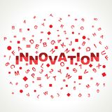 Innovation  word with in alphabets Stock Image
