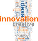 Innovation word cloud. Word cloud concept illustration of innovation creative royalty free illustration