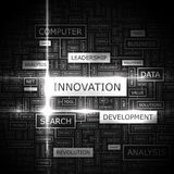 INNOVATION. Word cloud illustration. Tag cloud concept collage Royalty Free Stock Photography
