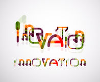 Innovation word concept Stock Photos