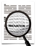 Innovation word under magnifying glass Stock Photo