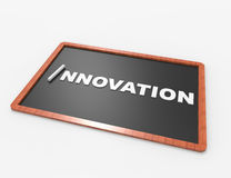 Innovation word in white chalk Stock Photography
