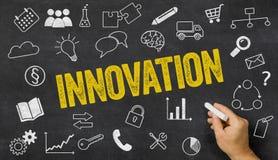 Innovation written on a blackboard Royalty Free Stock Photo