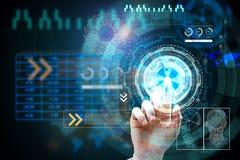 Innovation, Zukunft und Werbekonzeption Lizenzfreie Stockfotografie