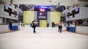 Innovationer 2016 för teknologiskt forum för Moskva öppna i Technopark Skolkovo arkivfilmer