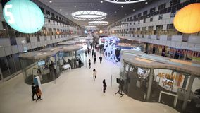 Innovationer 2016 för teknologiskt forum för Moskva öppna i Technopark Skolkovo lager videofilmer