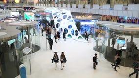 Innovationer 2016 för teknologiskt forum för Moskva öppna i Technopark Skolkovo stock video