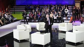 Innovationer 2016 för teknologiskt forum för Moskva öppna i Technopark Skolkovo Anförande av Viktor Vekselberg presidenten av lager videofilmer