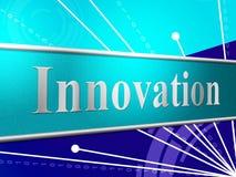 Innovationidéer indikerar kreativitetrevolutionen och omorganisering Fotografering för Bildbyråer