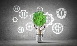 Innovations d'affaires pour l'écologie du monde Photo stock