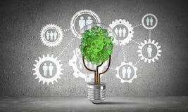 Innovations d'affaires pour l'écologie du monde Images libres de droits