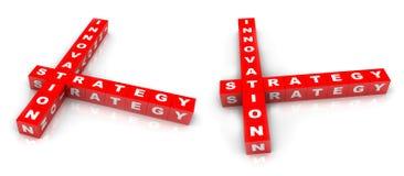 Innovationstrategiblock royaltyfri illustrationer