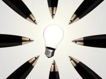 innovativ framgång för idé Arkivfoton