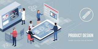 Innovativ produktdesign och prototyping stock illustrationer