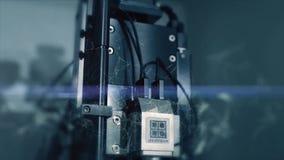 Innovativa teknologier i vetenskap och medicin Högteknologiskt mikroskop Blandat massmedia optiska apparater toppen-tech mikrosko arkivfilmer