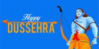 Dussehra festival of India stock illustration
