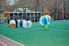 Innovative bubble soccer manhattan new york Royalty Free Stock Photography