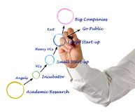 Innovative company growth. Presenting diagram of Innovative company growth Royalty Free Stock Images