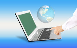 Innovative computer Internet technologies for business Stock Photos