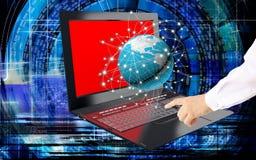 Innovative computer Internet technology Stock Image