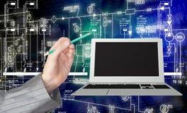 Innovative computer technology Stock Photos
