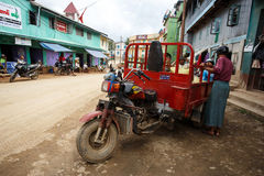 Innovative Delivery Vehicle in Falam, Myanmar (Burma) Stock Photography