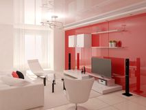 The innovative design of the living room. Stock Photography