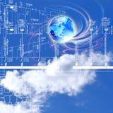 Innovative engineering designing. Engineering industrial designing technologies Royalty Free Stock Photo