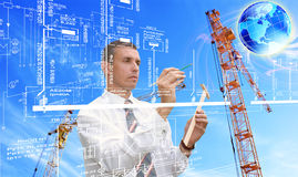 Innovative engineering designing Stock Image