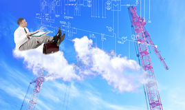 Innovative engineering designing. Engineering industrial designing technologies Stock Image