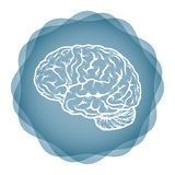 Innovative idea - brain illustration Royalty Free Stock Photo