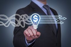 Innovative idea finance solution concepts on touch screen stock photos