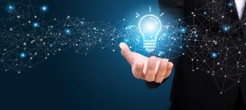 Free Innovative Idea In The Hand Of Businesswoman. Innovative Idea Co Stock Photo - 124522720