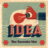 Innovative idea vector with bulb Royalty Free Stock Images