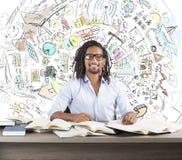 Innovative Ideen des Studiengeschäfts stockbild