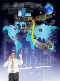 Innovative internet. Innovative engineering designing internet communication Stock Photography