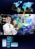 Innovative internet. Innovative engineering designing internet communication Royalty Free Stock Photos