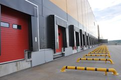 Innovative logistic warehouse complex. stock photography