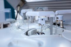 Innovative medical apparatus working Royalty Free Stock Photo