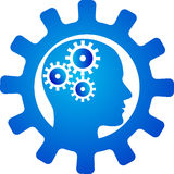 Innovative mind gear royalty free illustration