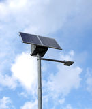 Innovative solar Street lamp and clear sky Royalty Free Stock Images