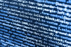 Innovative startup project. Programming code abstract technology. stock image