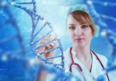 Innovative Technologien in der Wissenschaft und in der Medizin Abbildung 3D Lizenzfreie Stockfotografie