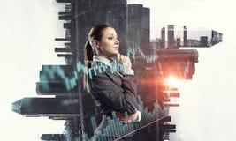 Innovative technologies as symbol for progress. Mixed media . Mixed media Royalty Free Stock Image