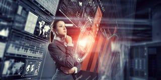 Innovative technologies as symbol for progress. Mixed media . Mixed media Royalty Free Stock Photos