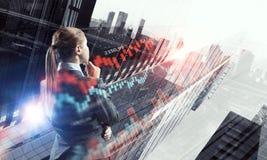 Innovative technologies as symbol for progress. Mixed media Stock Image