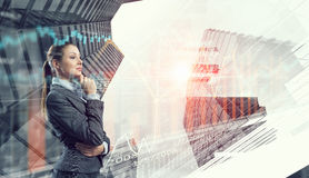 Innovative technologies as symbol for progress. Mixed media Stock Images